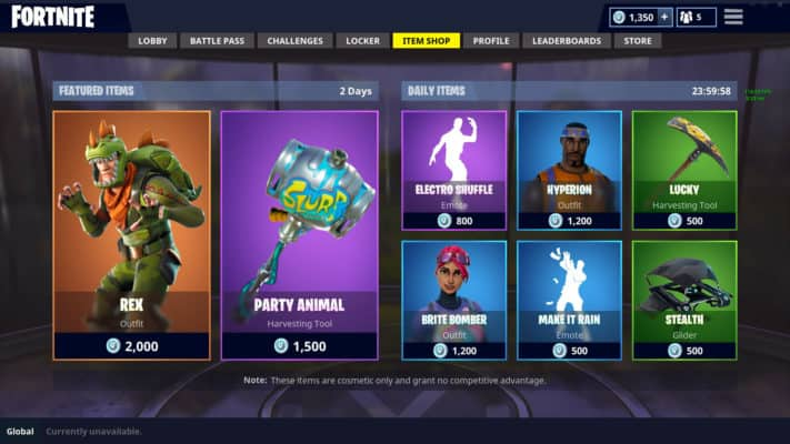 Fortnite Virtual Store
