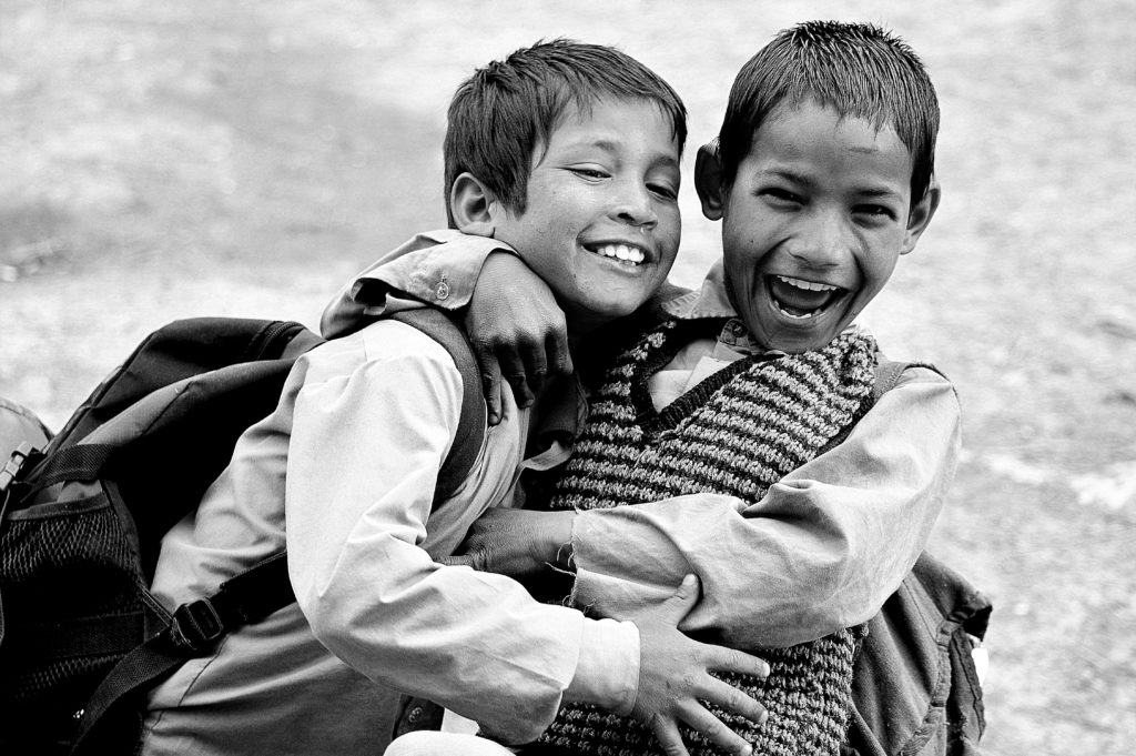 happy kids in india