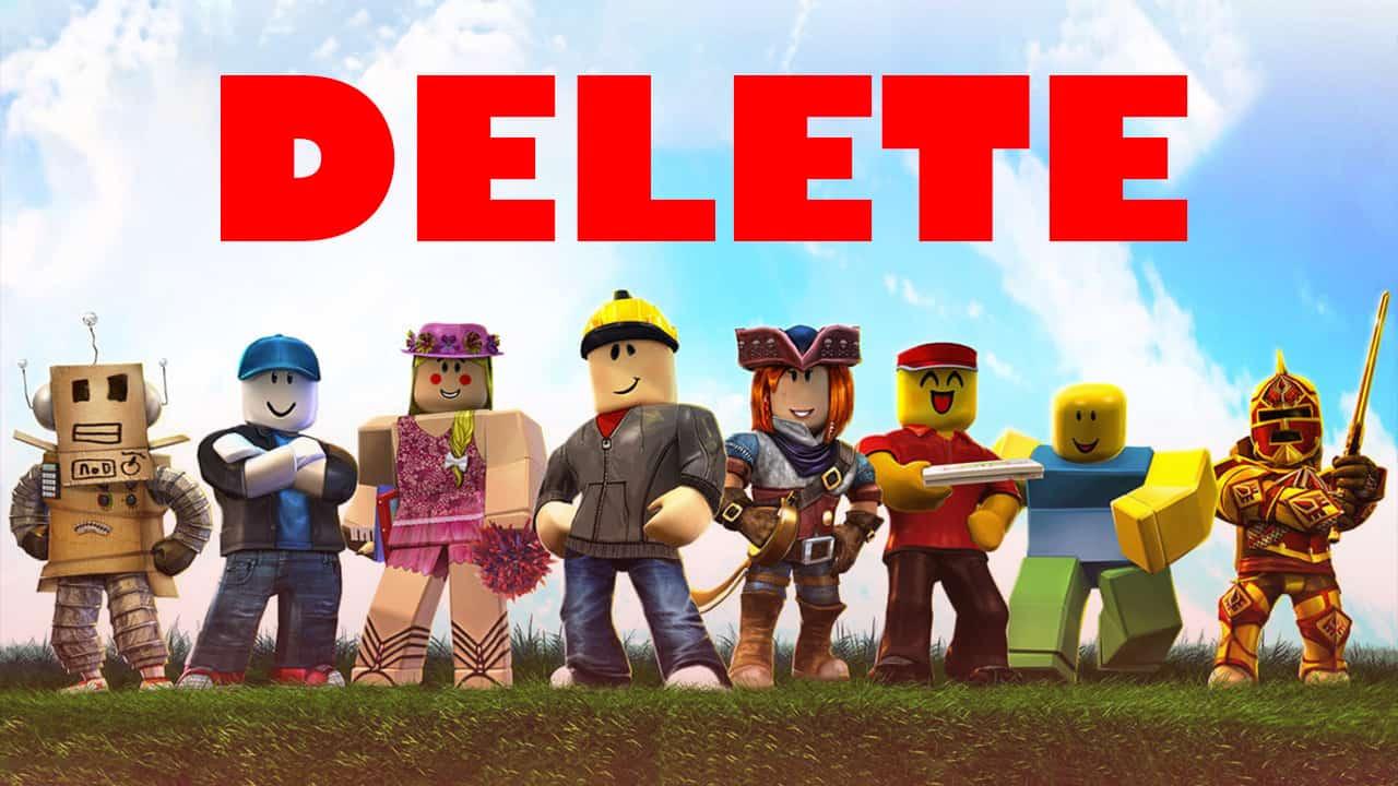 delete your roblox account