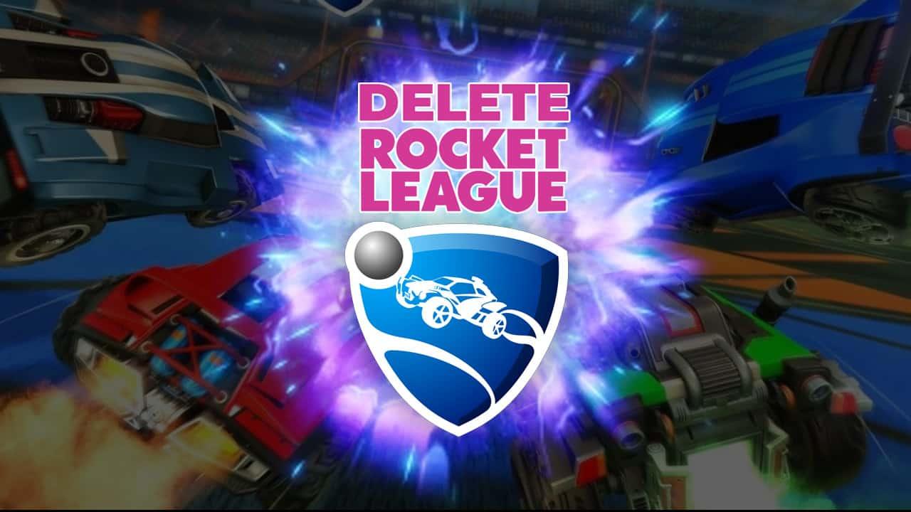 delete your rocket league account