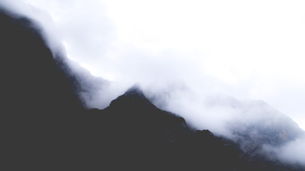 mountains fog
