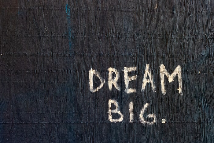 how to dream big visualization