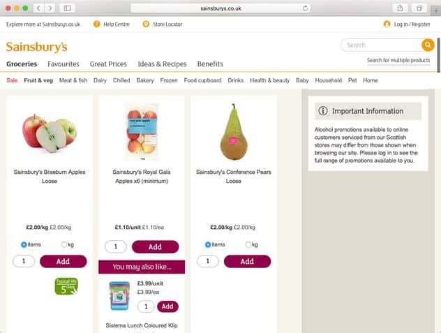 sainsbury's types of dark patterns