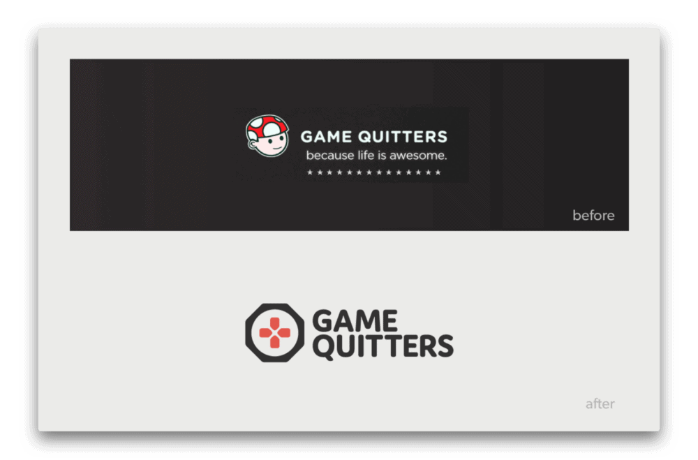 Game Quitters Branding